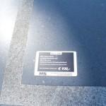 Chinees basalt met rand 200 x 100 x 3cm.